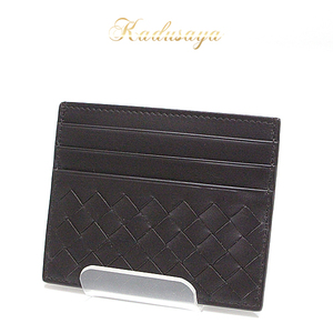 Bottega Veneta Bottega · Veneta Intorechato Vn Card Case Espresso (Brown) Business Holder