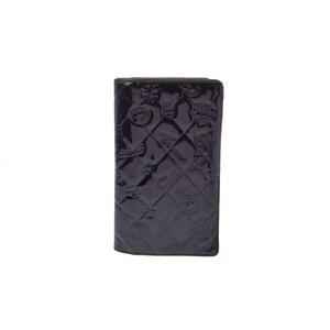 シャネル(Chanel) マトラッセ レディース パテントレザー 財布 ブラック