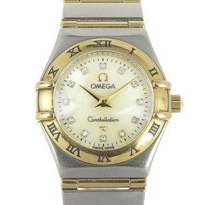 Omega Constellation Ladies' Quartz Wrist Watch Shell Dial 12p Diamond 1272.75