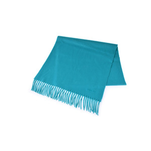 New Article Hermes Muffler Cashmere 100% Turquoise