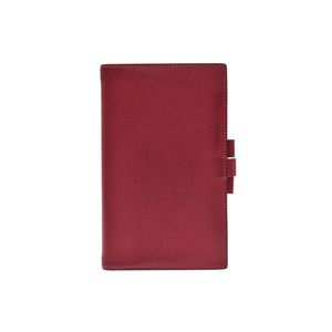 エルメス(Hermes) 中古 エルメス 手帳カバー ヴォーエプソン 赤 □P刻印 HERMES