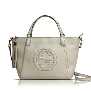 Gucci Soho 369176 Women's Leather Tote Bag Ivory