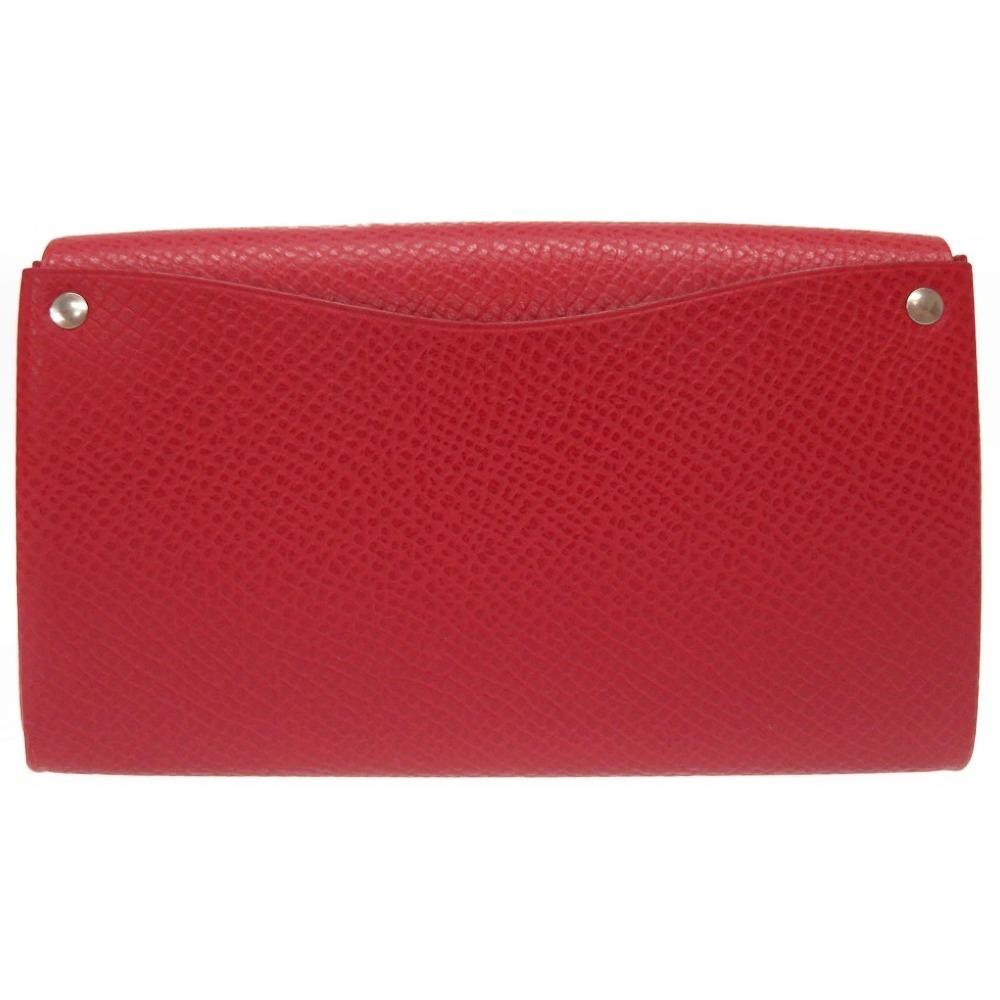 Hermes Women s Epsom Leather Wallet Rouge Garance 675c5356db