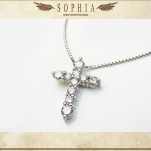 Diamond Cross Necklace Platinum