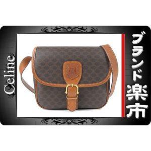 Celine Celine Macadam Pattern Shoulder Bag Gold Hardware Tea