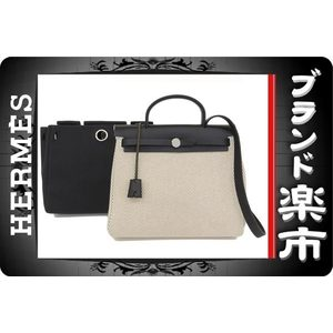 Hermes Hermes Ale Bag Pm Natural Black Leather Sv Metal Fitting □ H Stamp