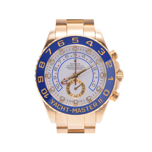 腕時計  ロレックス ヨットマスター2 116688 Z番 YG 白文字盤 箱 ギャラ オーバーホール証 ROLEX