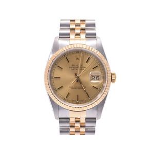 腕時計  ロレックス デイトジャスト16233 X番 シャンパン文字盤 箱 ROLEX