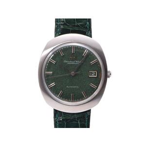 Watch Iwc Shauhausen Antique Ss Green Dial Genuine Buckle