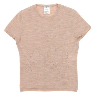 Chanel Short Sleeve Knit Tops Size: 38