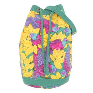 Hermes Purse Shoulder Bag Parrot Cotton Canvas Green Yellow