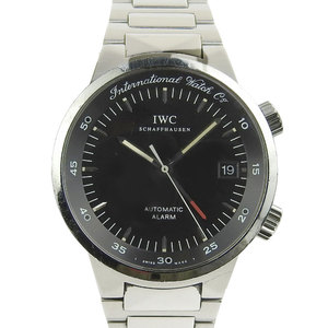 Iwc Gst Alarm Black Dial Face Men's Automatic Watch Iw 353701