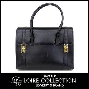 Hermes Hermes Drag Handbag Black ◯ X Engraved Ladies