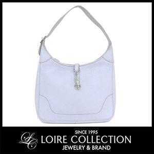 Hermès Hermes Trim 35 Shoulder Bag Triillon Blue Pearl Silver Fittings □ E Stamp