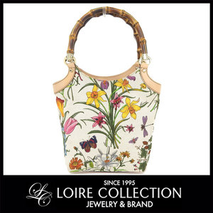 Gucci Gucci Bamboo Flower Handbag Ladies 2123