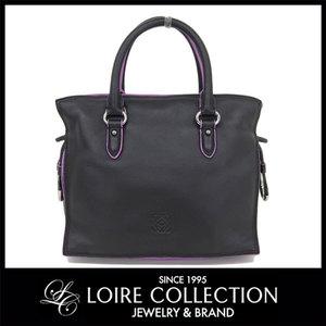 Loewe Loewe Flamenco 23 2way Handbag Black × Purple Diagonal Women's Ladies 306.76.125