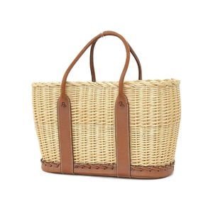 Hermes Balenia Garden Picnic Handbag Yagisa Yanagi Natural Fove