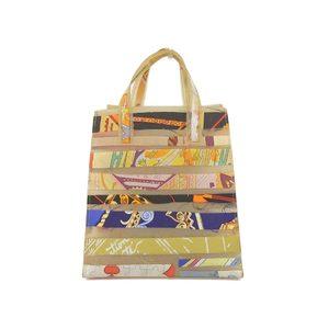 Hermes Louvre Museum Limited Rubber Handbag Multi Color