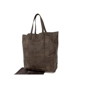 Berluti Berlutti Calligraphy Shopping Bag Shoulder Tote Leather Brown