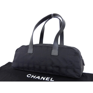 Chanel Coco Mark New Travel Line Handbag One Shoulder Black