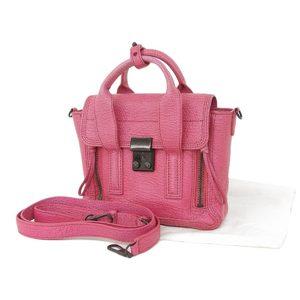 3.1 Phillip Lim Satchel Leather 2way Handbag Shoulder Pink