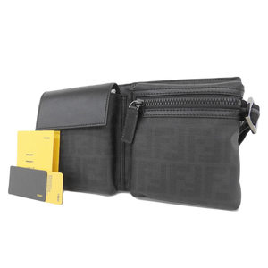 Fendi Zucker Pattern Body Bag Waist Pouch Shoulder Black