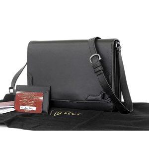 Cartier Marcello Leather Shoulder Bag Black