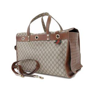 Gucci Gg Pattern Canvas Pet Carry Bag Dog Shoulder