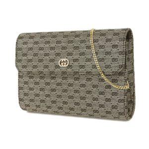 Gucci Gg Pattern Jacquard Chain Pochette Accessory Pouch Shoulder Bag Gold
