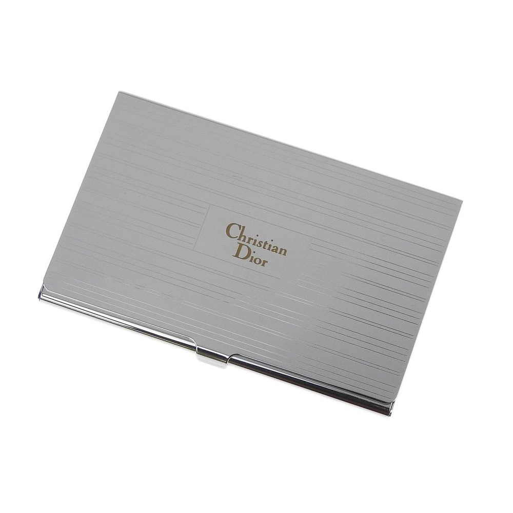 eLADY GLOBAZONE | Christian Dior Silver Business Card Holder Case