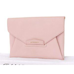 Givenchy Antigona Medium Envelope Letter Clutch Bag Second Pink