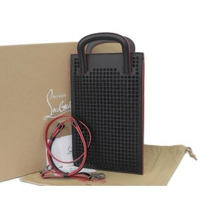 Christian Louboutin Rubi Posh 3way Clutch Bag Hand Shoulder Spike Studs