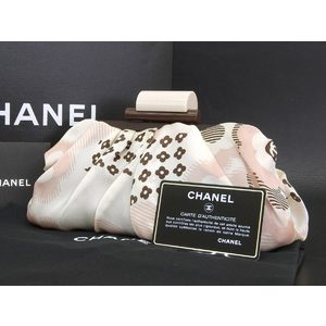 Chanel Coco Mark Camellia Clutch Bag White Pink Brown 9 Series