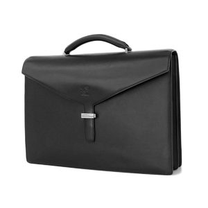 Loewe Logo Entertainment Leather Briefcase Document Bags Business Bag Black