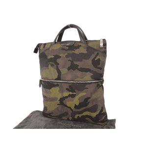 Pelle Morbida Pellemorubida Camouflage Onda Limonta Nylon Tote Bag Clutch