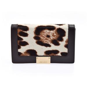 Jimmy Choo Women's Leather Pouch Dark Brown
