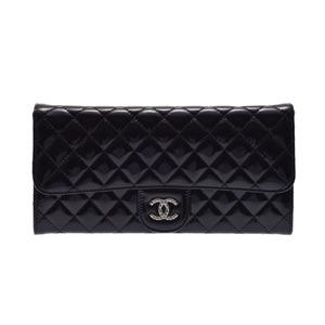 シャネル(Chanel) 中古 シャネル ブリリアント チェーンウォレット エナメル 黒 CHANEL
