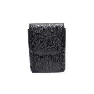 Chanel Cigarette Case Caviar Leather Black