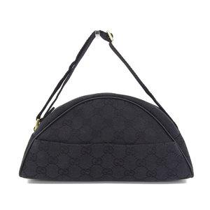 Gucci Gg Canvas Cosmetic Pouch Mini Handbag Black