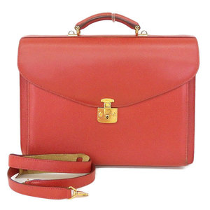 Gucci 2way Leather Briefcase Business Bag Document Bags Red