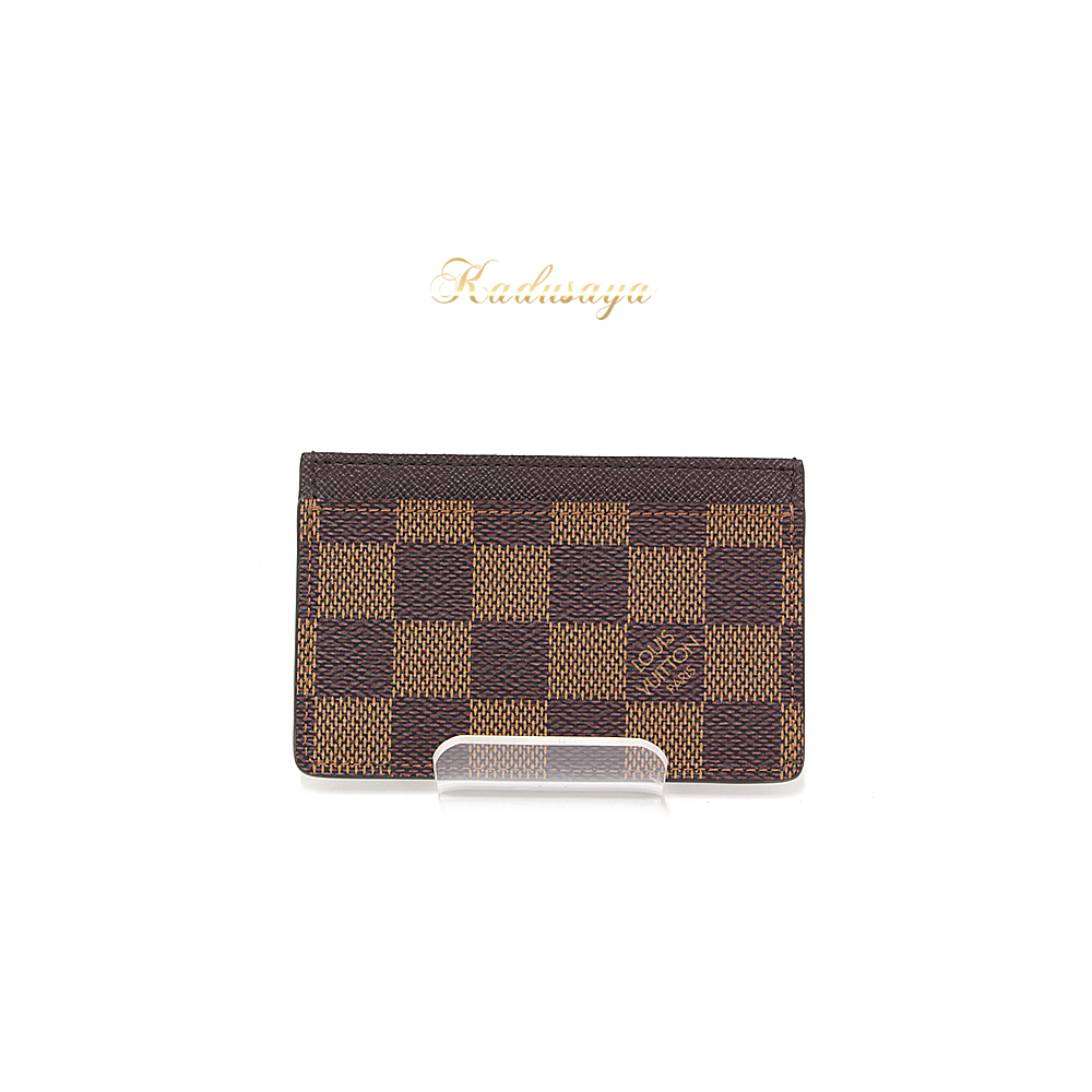 Louis Vuitton Porto Carte Samplle Damier Ebene Card Case N61722 ...