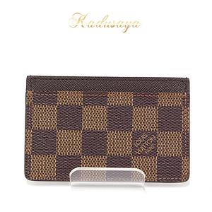 Louis Vuitton Porto Carte Samplle Damier Ebene Card Case N61722 Business Holder