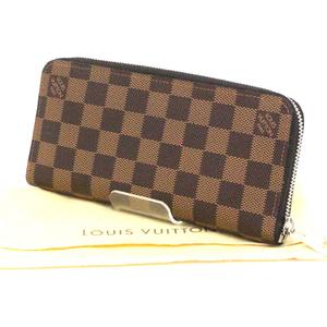 Louis Vuitton Damier Zippy Wallet Veltical Round Zipper Long Purse N 61207 Like New