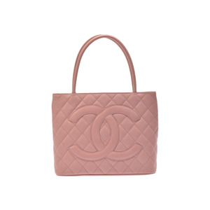Chanel Women's Caviar Leather Tote Bag Pink
