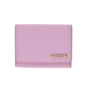 Fendi Leather Card Case Pink