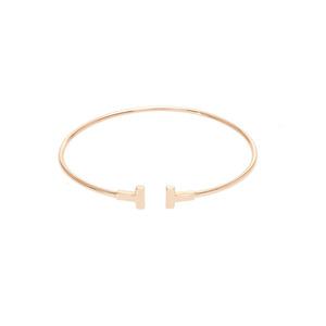 Tiffany Tiffany T Pink Gold Bracelet