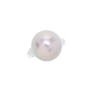 PT900・リング パール ダイヤ0.35ct 10.5g #10.5