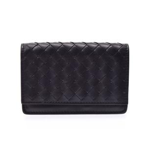 Bottega Veneta Intrecciato Intrecciato Leather Card Case Black 133945 V001U 1000