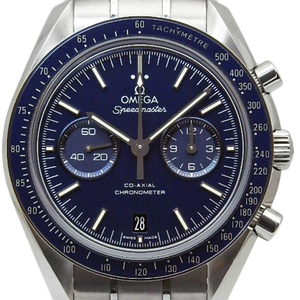Omega Speedmaster Moon Watch Co-axial Chronograph Chronometer 311-90-44-51-03-001 Cal.9300 Ti Men's Automatic Back Scale Blue Dial