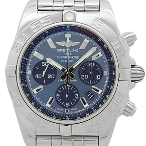 Breitling Chrono Mat 44 Mop Ab0111 Chronograph Japan Limited Men's Automa Black Shell Dial Watch